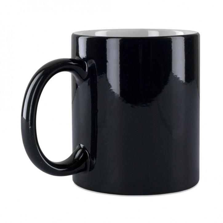 Farbwechsel Tasse 11 oz Becher Zaubertasse schwarz für Sublimationsdruck 11oz