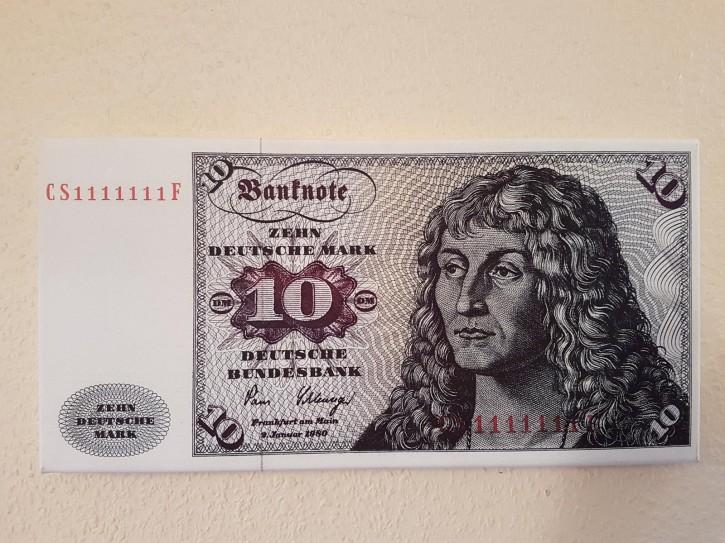 Leinwand Kunstdruck 10 DM der Serie 3. Währung BRD bis Dezember 1995
