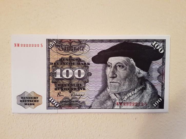 Leinwand Kunstdruck 100 DM der Serie 3. Währung BRD bis Dezember 1995
