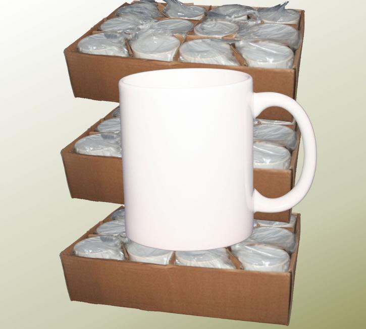 36 Stück Weisse 11 oz ECO- Fototassen bedruckbar mit Sublimationsdruck glänzende Beschichtung (A-)