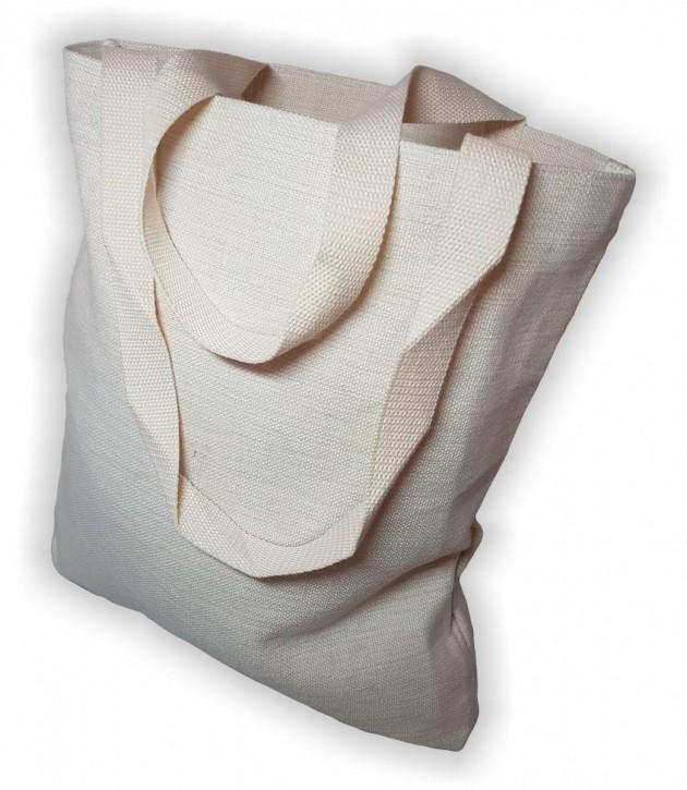 Shopper-Einkaufstasche in Leinen- Optik für Sublimationsdruck