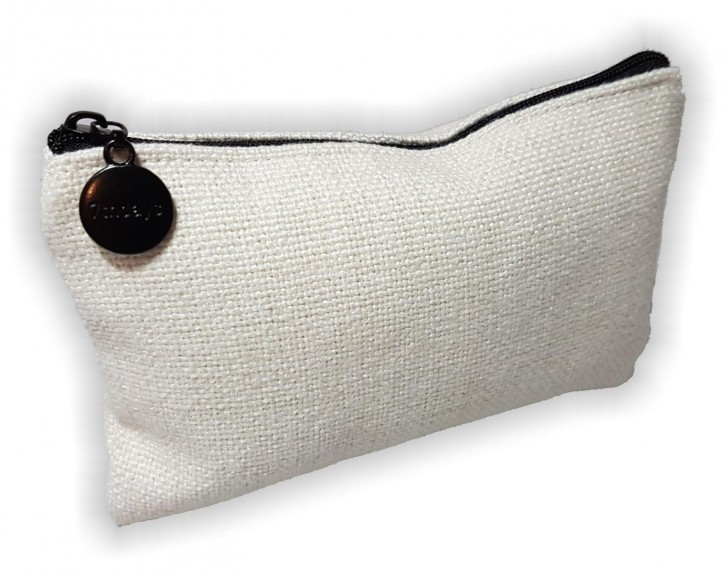 Kleine flache Tasche in Leinen- Optik für Sublimationsdruck
