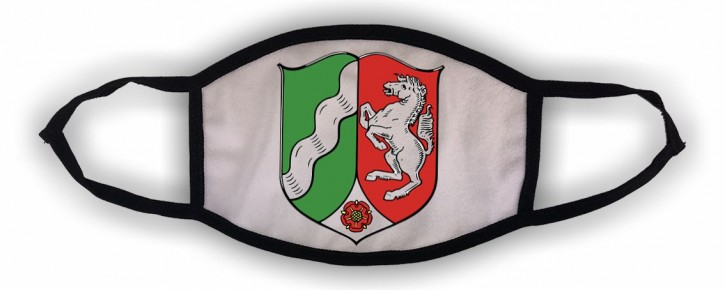 Waschbare Alltagsmaske mit Ihrem Landeswappen Nordrhein-Westfalen