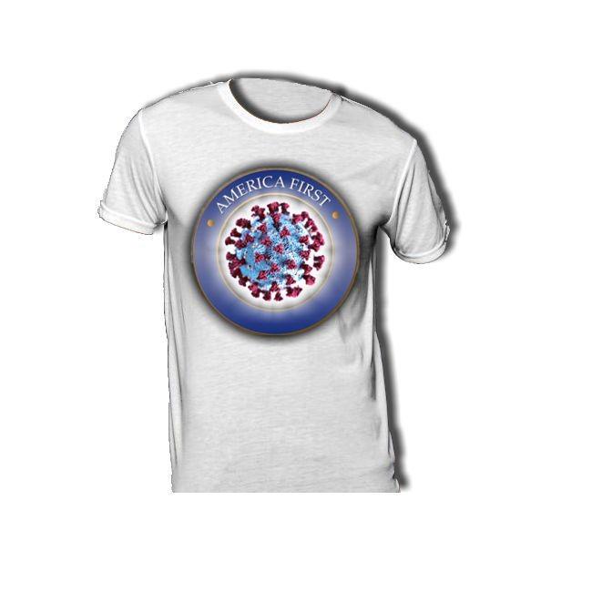 AMERIKA FIRST T-Shirt mit Corona Virus