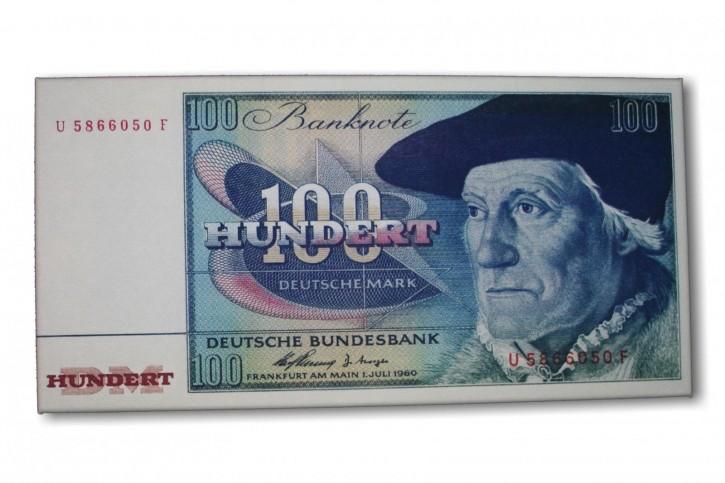 Leinwand Kunstdruck 100 DM der Serie BBK II DieGeheime Währung der BRD