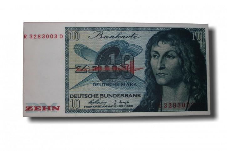 Leinwand Kunstdruck 10 DM der Serie BBK II DieGeheime Währung der BRD