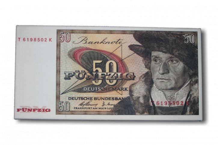 Leinwand Kunstdruck 50 DM der Serie BBK II DieGeheime Währung der BRD