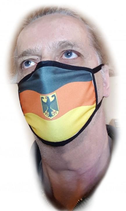 Waschbare Alltagsmaske mit Deutschlandfahne