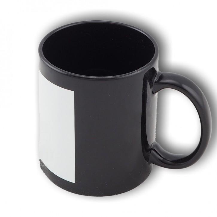 Fototasse schwarz mit individuellem Bildmotiv