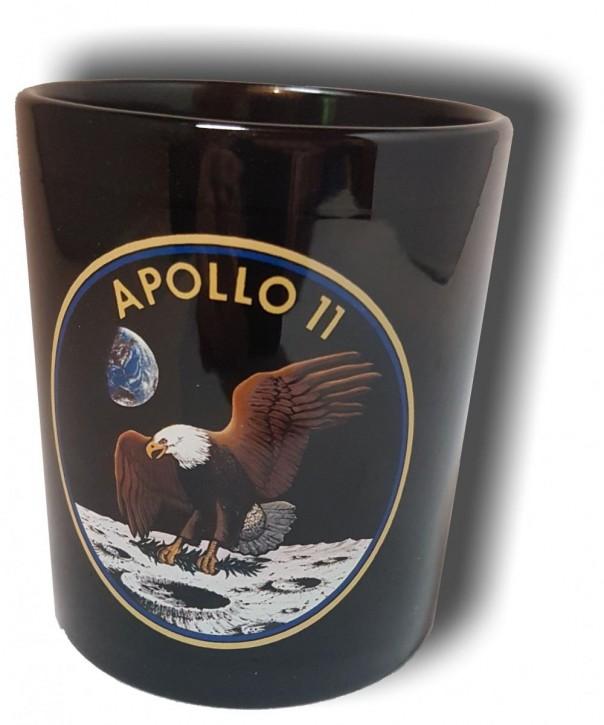 Keramik- Becher mit Apollo 11- Missions-Logo