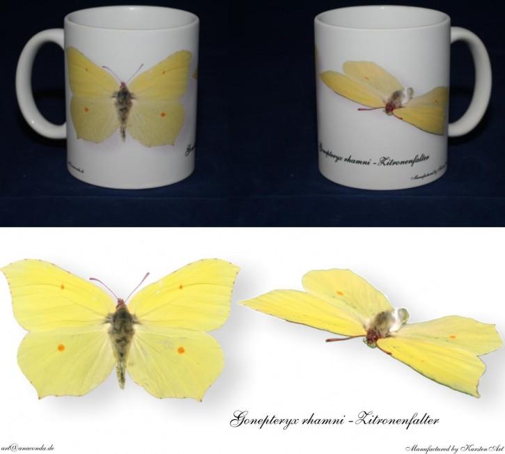 Gonepteryx rahmni - Zitronenfalter Bild auf Fototasse