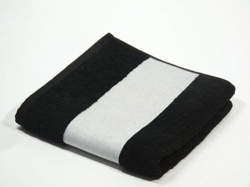 Handtuch 100 x 50 cm Schwarz für den Sublimationsdruck