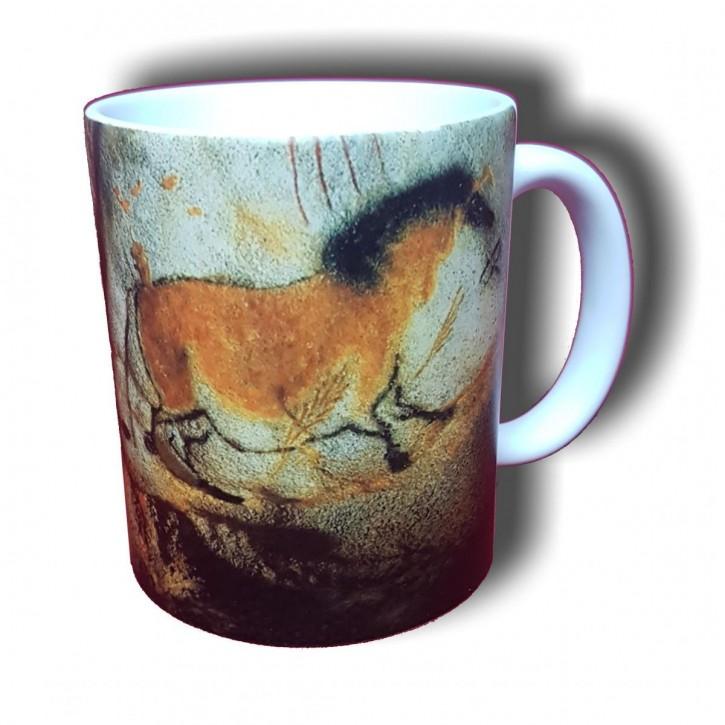 Höhlenmalerei in der Höhle von Lascaux - Bild auf Fototasse Kaffeetasse Fotobecher