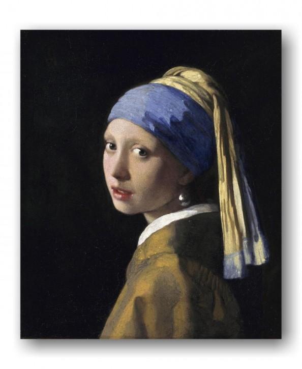 Leinwanddruck auf Keilrahmen Jan Vermeer van Delft, Das Maedchen mit dem Perlenohrgehänge