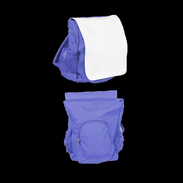 Kinderrucksack blau für den Sublimationsdruck