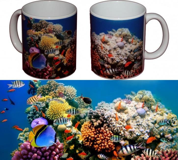 Fische im tropischen Korallenriff - Bild auf Fototasse Kaffeetasse Fotobecher