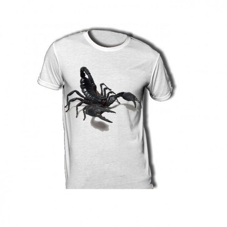 T-Shirt mit großem Skorpio - Heterometrus laoticus