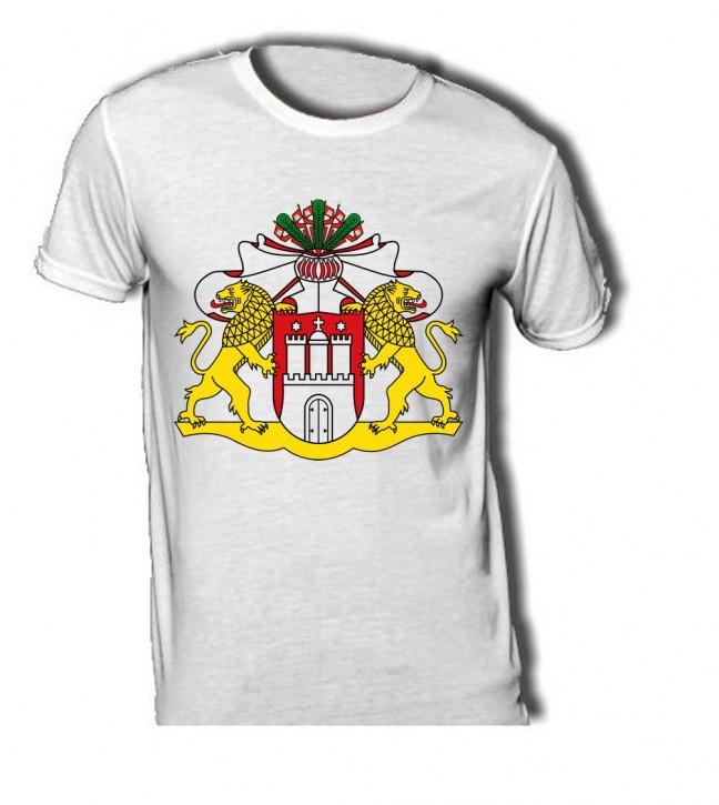 T-Shirt mit Wappen von Hamburg