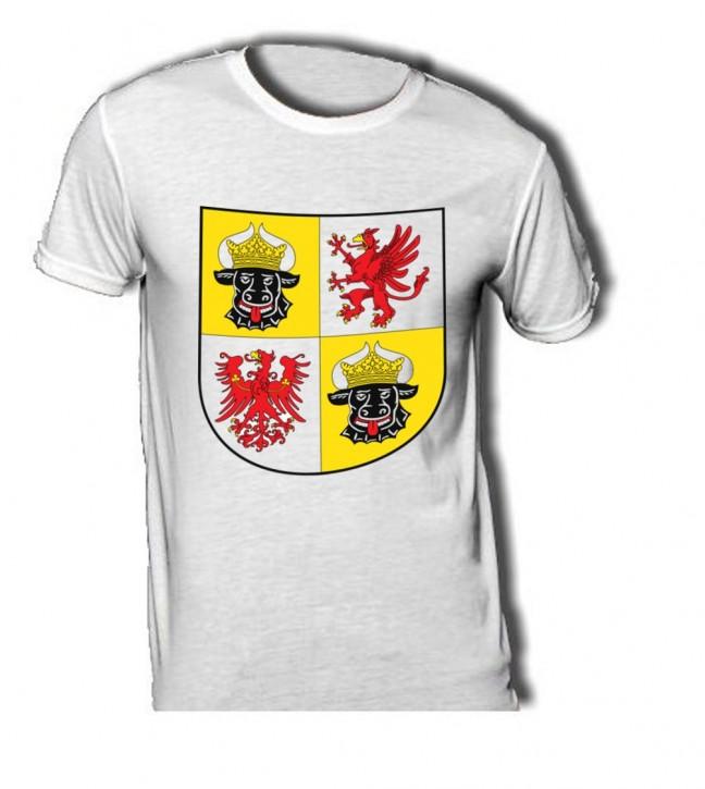 T-Shirt mit Wappen von Mecklenburg Vorpommern