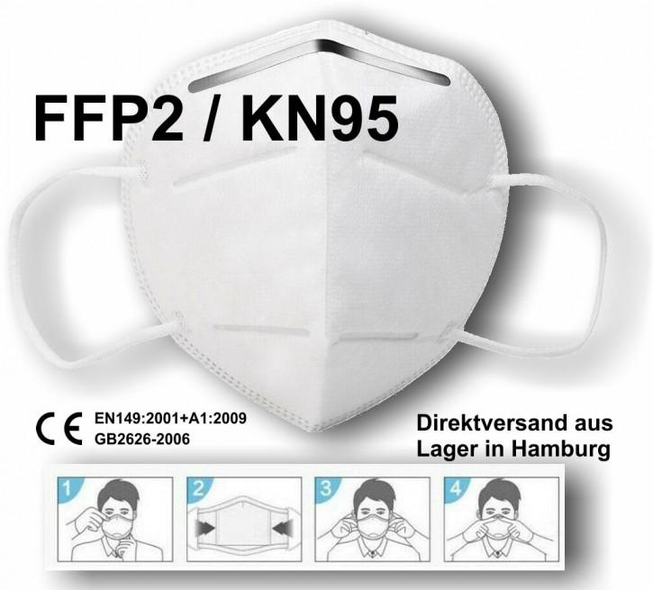 FFP2 / KN95 Respirator Gesichtsmaske Maske mit 5-Schichten Filter