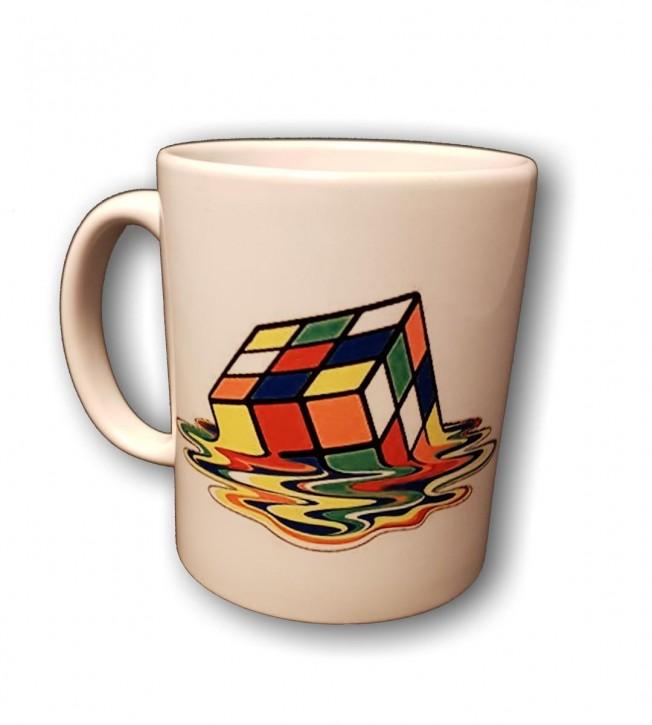 Melting Rubik Cube - Motiv auf Keramikbecher