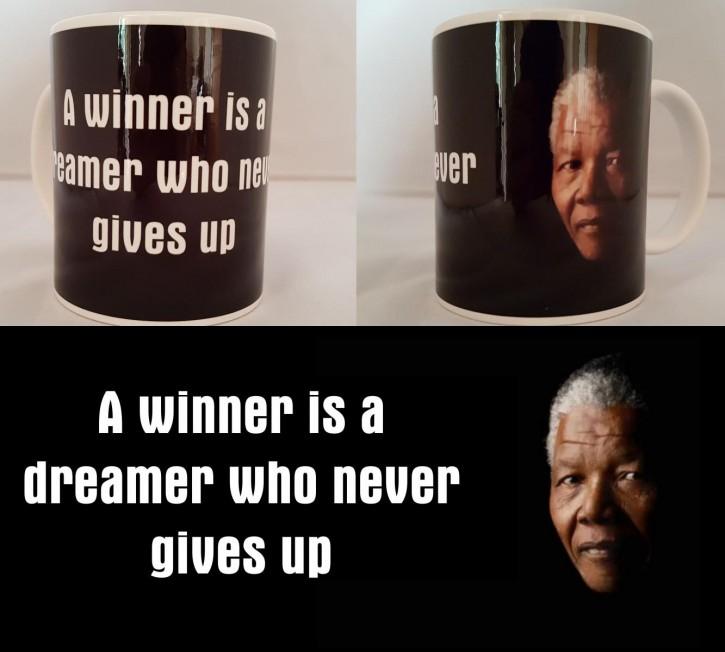 Nelson Mandela Zitat auf Fototasse - Bild auf Fototasse Kaffeetasse Fotobecher