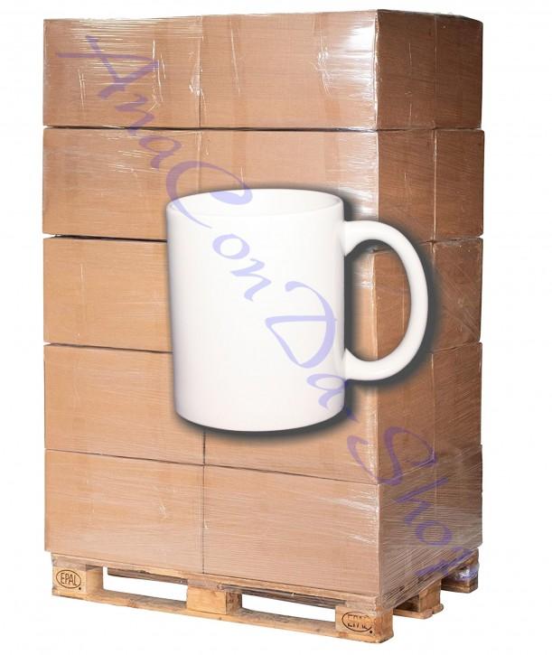 1296 Weisse 11 oz Fototassen Keramik bedruckbar für den Sublimationsdruck glänzende Beschichtung (A+)