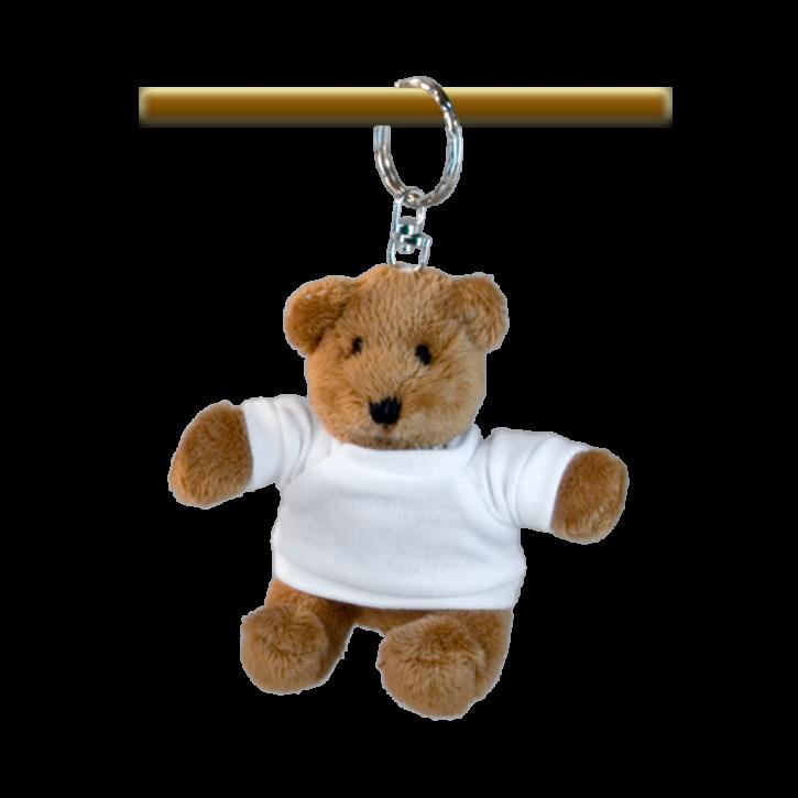 Schlüsselanhänger Teddybär mit Subli-Shirt