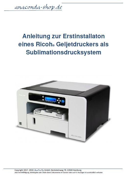 Beispiel zur Konfiguration eines Ricoh Geljetdruckers als Sublimationsdrucksystem