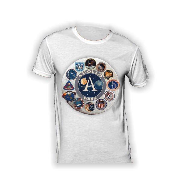 T-Shirt mit Logos aller Apollo- Missionen 140g/m²