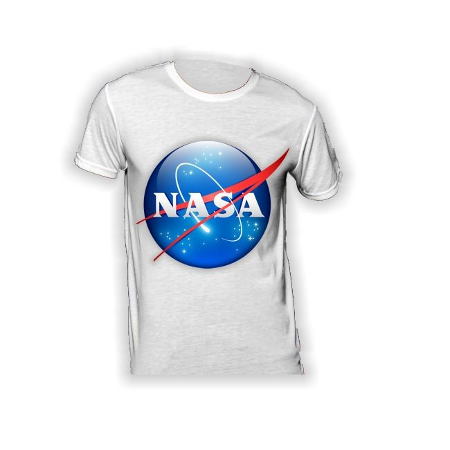 T-Shirt mit Logo der NASA in 3D- Optik 140g/m²
