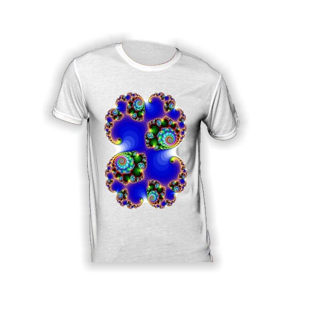 T-Shirt mit Ausschnitt aus Mandelbrotmenge