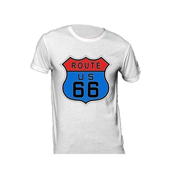 T-Shirt mit Schild der Route 66 140g/m²