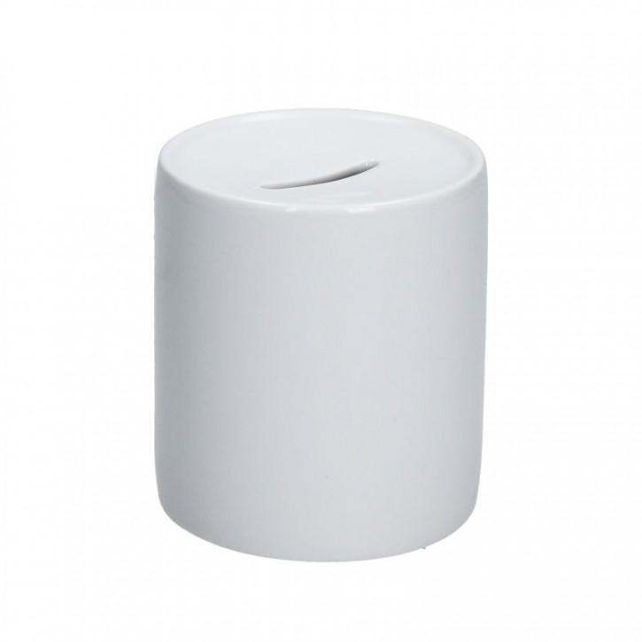 Weisse 11 oz Spardose Keramik bedruckbar für den Sublimationsdruck glänzende Beschichtung