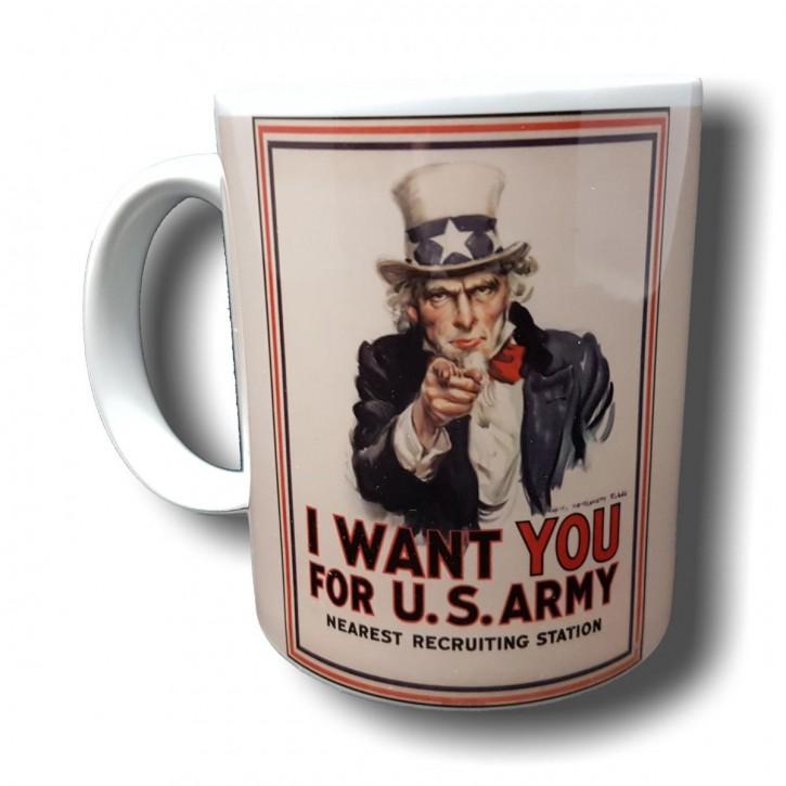 Uncle Sam - Bild auf Fototasse Kaffeetasse Fotobecher