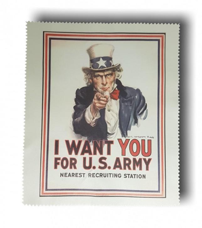 Uncle Sam - Bild auf Brillenputztuch, Objektivputztuch, Handyputztuch