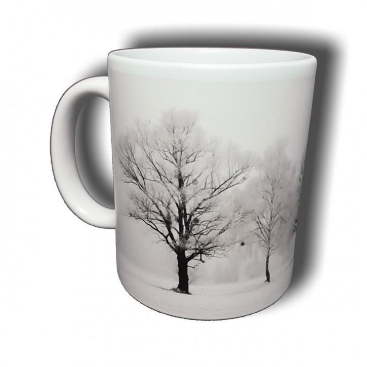 Winterliche Allee - Bild auf Fototasse Kaffeetasse Fotobecher